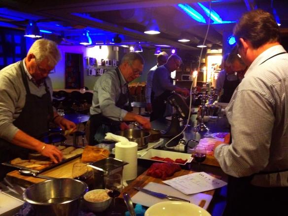 Matlagnings kurs, gourmet kväll.